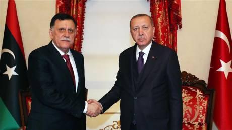 Συνάντηση Ερντογάν με τον πρωθυπουργό της Λιβύης Φαγέζ αλ-Σάρατζ