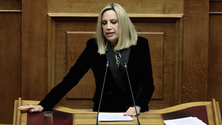 Προϋπολογισμός 2020 - Γεννηματά: Πρέπει να στείλουμε ένα καθαρό μήνυμα στον Ερντογάν