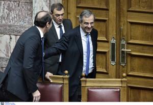 Ο πρώην πρωθυπουργός Αντώνης Σαμαράς με τον Απόστολο Βεσυρόπουλο