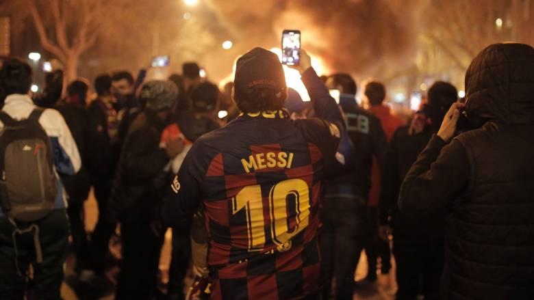 Βαρκελώνη: Άγριες συμπλοκές έξω από το Καμπ Νου την ώρα του El Clasico
