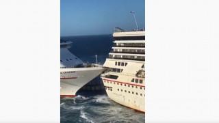 Απίστευτο βίντεο από τη σύγκρουση κρουαζιερόπλοιων στο Μεξικό