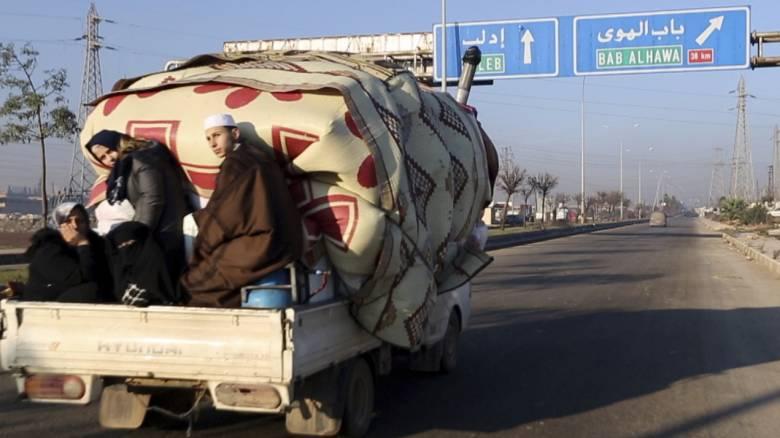 Συρία: 25.000 άμαχοι από Ιλντίμπ προς Τουρκία μέσα σε δύο ημέρες