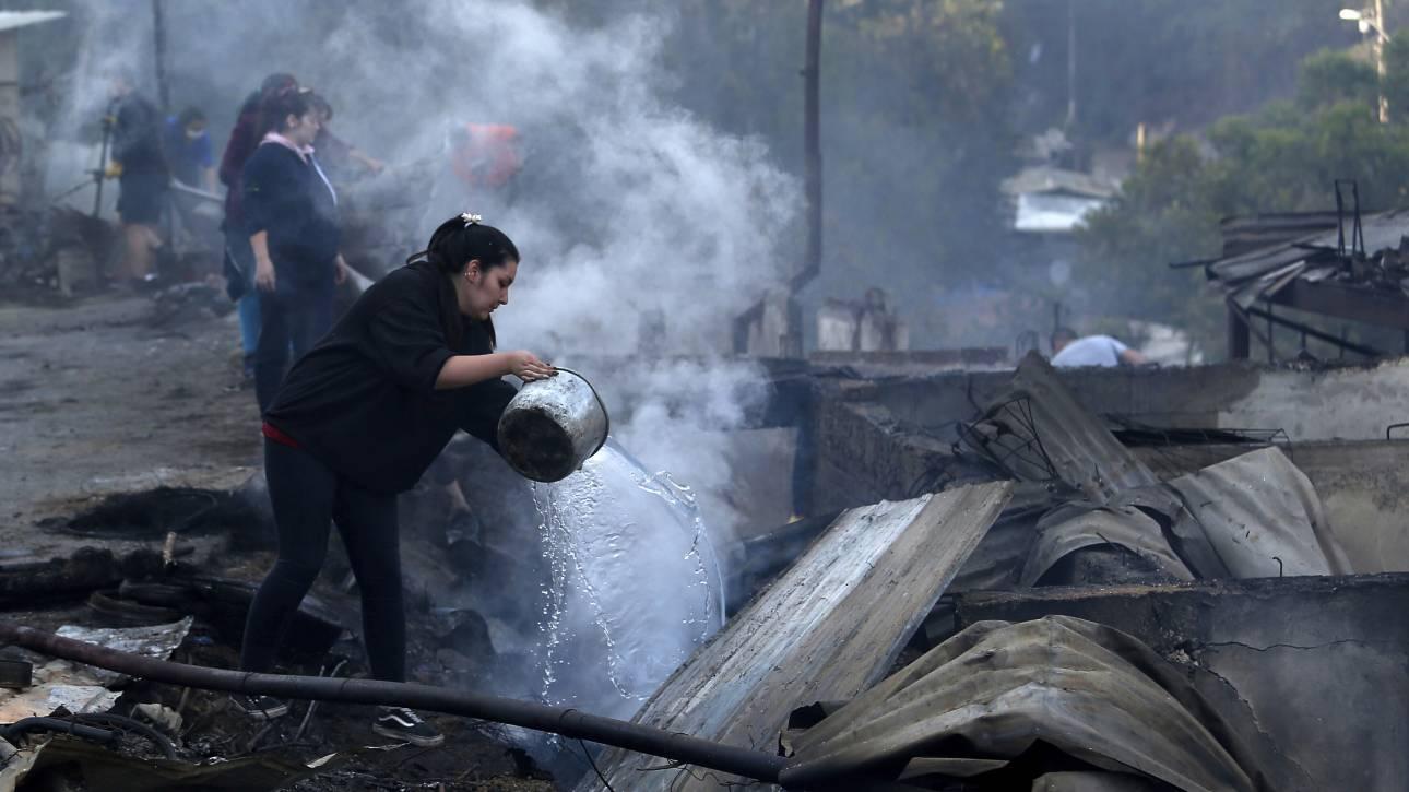 Χιλή: Στάχτη 245 σπίτια και 1.500 στρέμματα δάσους