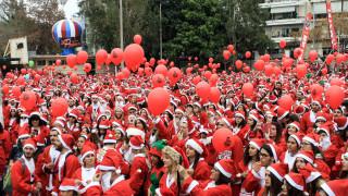 Santa Run στα Χανιά: Στους δρόμους χιλιάδες Άγιοι Βασίληδες για καλό σκοπό
