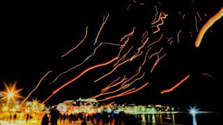 Καβάλα: Γέμισε φαναράκια και χρώματα ο ουρανός