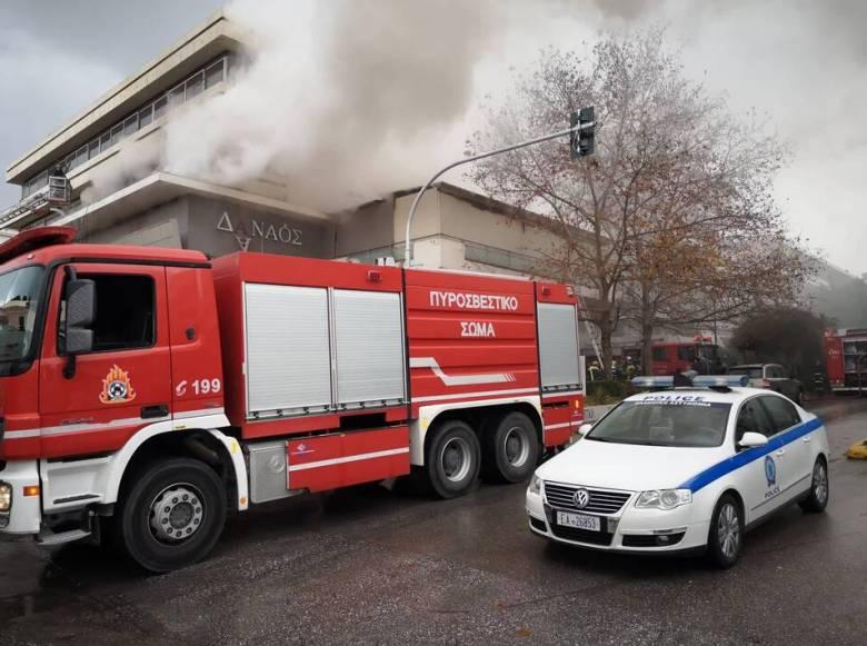 Χολαργός: Σοβαρές ζημιές από την πυρκαγιά σε πολυκατάστημα