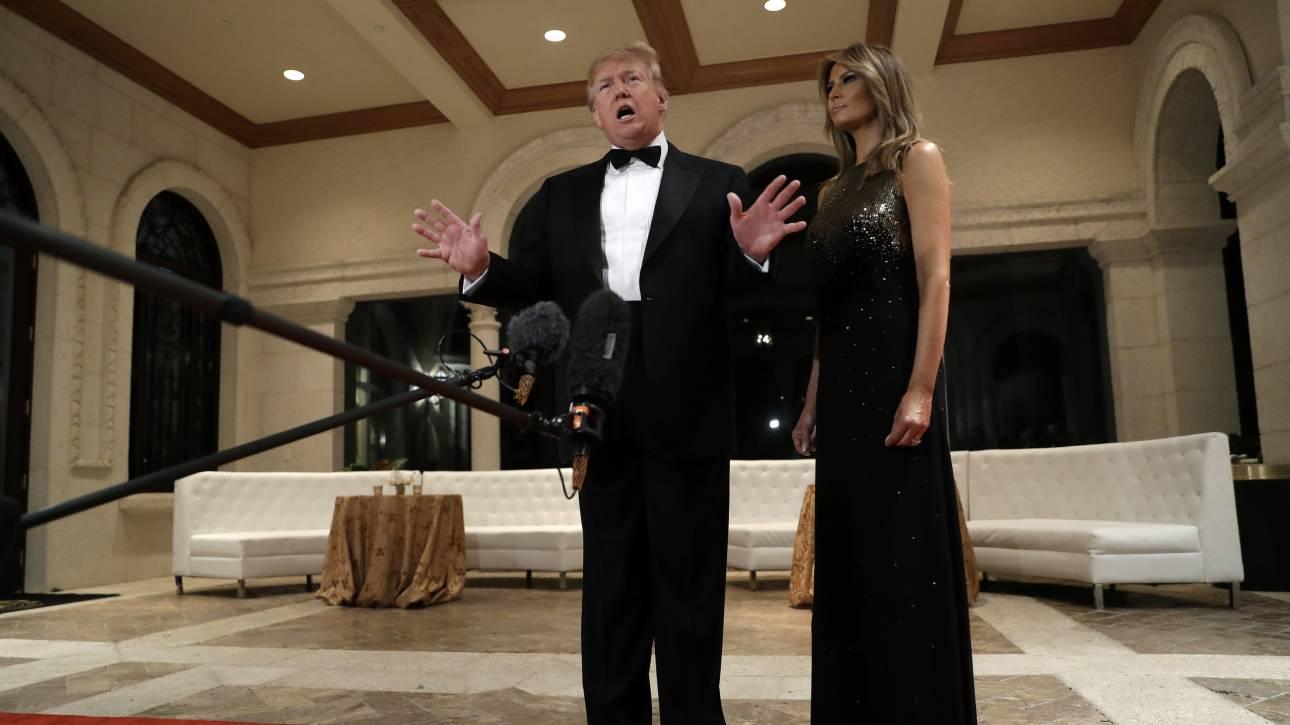 Το πρωτοχρονιάτικο ρεβεγιόν των Τραμπ στη Φλόριντα