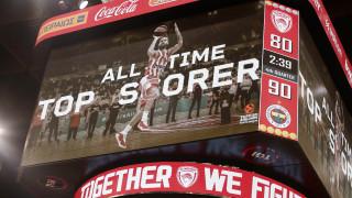 O Βασίλης Σπανούλης πρώτος σκόρερ στην ιστορία της Euroleague