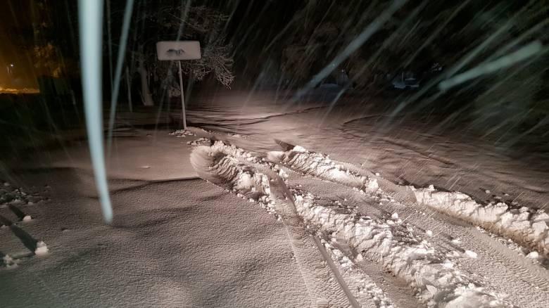 «Ηφαιστίων»: Χιονοπτώσεις σε πέντε νομούς της Στερεάς Ελλάδας - Πού χρειάζονται αλυσίδες
