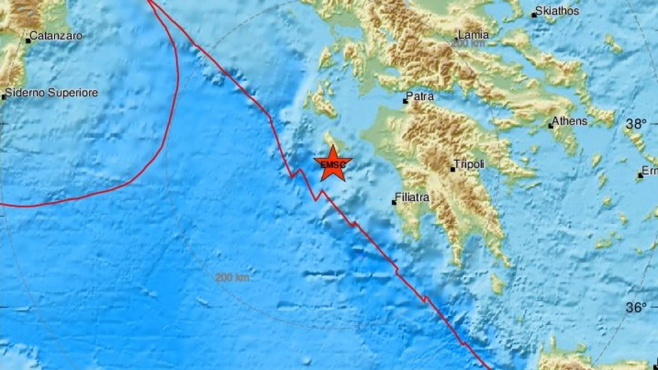 Σεισμός 4,1 Ρίχτερ ανοικτά της Ζακύνθου