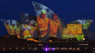 Η Όπερα του Σίδνεϋ τιμά τη μάχη των πυροσβεστών στην Αυστραλία