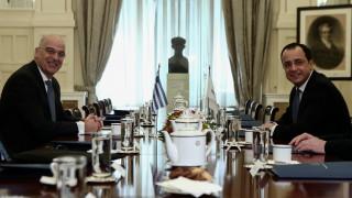 Συνάντηση Δένδια - Χριστοδουλίδη: Η συμπεριφορά της Τουρκίας την οδηγεί σε διεθνή απομόνωση