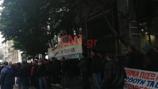 Ένταση στο κέντρο της Αθήνας έξω από το υπουργείο Ανάπτυξης