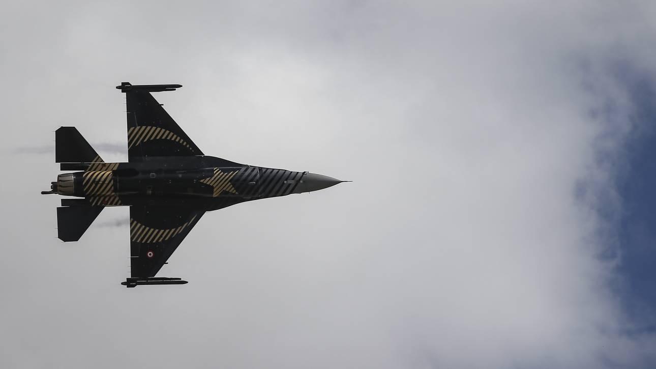 Συνεχίζεται για δεύτερη ημέρα το «μπαράζ» υπερπτήσεων τουρκικών F-16