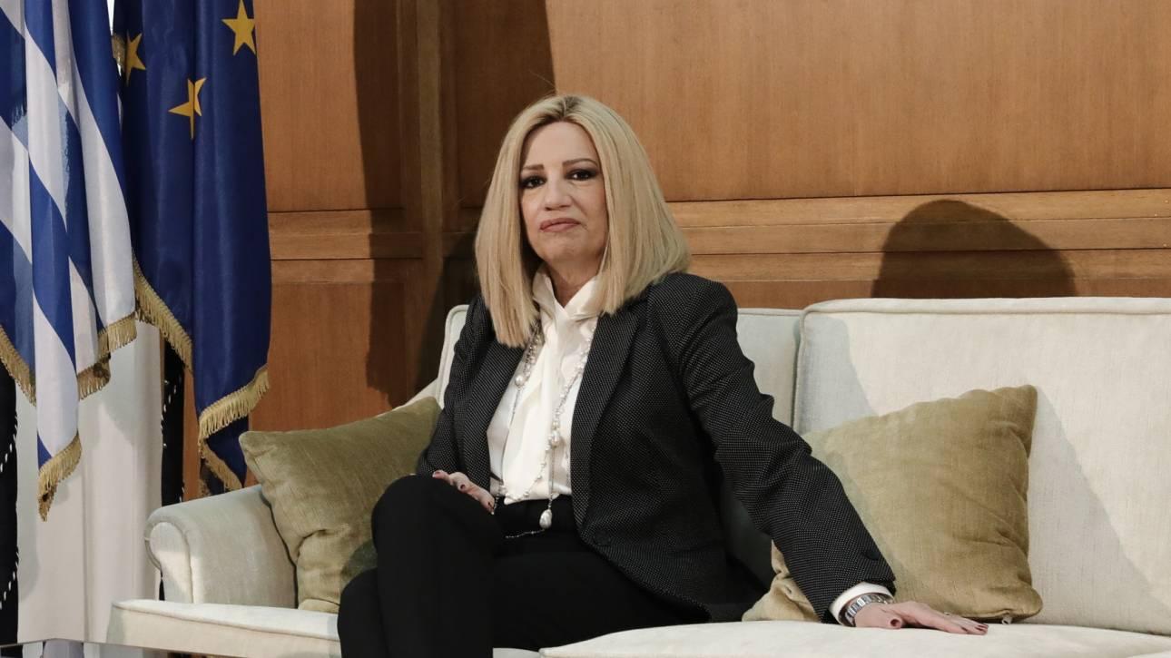 Φώφη Γεννηματά: Να πάψει ο Μητσοτάκης να είναι τόσο προβλέψιμα πρόθυμος στα εθνικά ζητήματα