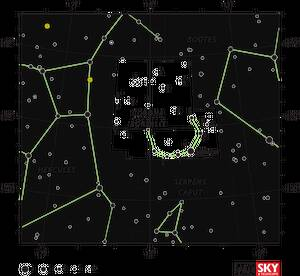 Η μεγαλύτερη γνωστή οντότητα στο σύμπαν Το Μέγα Τείχος Ηρακλή-Βορείου Στέμματος. Έχει έκταση δέκα δισεκατομμυρίων ετών φωτός και περιέχει δισεκατομμύρια γαλαξίες. Ανακαλύφθηκε το 2013 και πήρε το όνομά του, επειδή βρίσκεται στην κατεύθυνση των αστερισμών