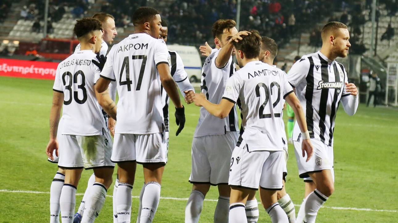ΠΑΟΚ - Αστέρας Τρίπολης 3-1: Νίκη για τον «Δικέφαλο» του Βορρά