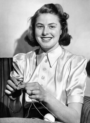 1940, Νέα Υόρκη. Η νεαρή ηθοποιός από τη Σουηδία, Ίνγκριντ Μπέργκμαν.