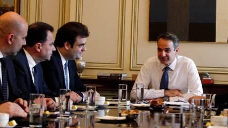 Συνάντηση Μητσοτάκη με την ηγεσία του υπουργείου Ψηφιακής Διακυβέρνησης