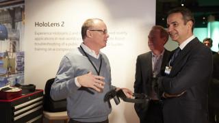 Συνάντηση Μητσοτάκη - επικεφαλής Microsoft: Συζητήθηκε η δημιουργία Data Center στην Ελλάδα