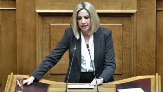 Γεννηματά: Η κυβέρνηση φαντάζεται τζούφιες εκλογές με την απλή αναλογική