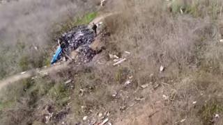 Κόμπι Μπράιαντ: Drone κατέγραψε τις συγκλονιστικές εικόνες στο σημείο της συντριβής