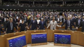 Το δαρκύβρεχτο «αντίο» της Ευρώπης στη Βρετανία σε εικόνες