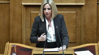 Γεννηματά: Λάθος επιλογή η μη ψήφιση της αμυντικής συμφωνίας Ελλάδας-ΗΠΑ