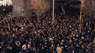 Πορεία διαμαρτυρίας των φιλάθλων του ΠΑΟΚ στη Θεσσαλονίκη