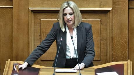 Γεννηματά: Η κυβέρνηση συνεχίζει τον αδιέξοδο δρόμο του ΣΥΡΙΖΑ στα αγροτικά