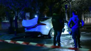 Αγία Βαρβάρα: Εικόνες από το καμένο όχημα του εκδότη