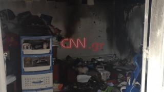 Φωτιά σε σπίτι στον Υμηττό: Εικόνες από το σημείο