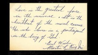 Ο Μάρτιν Λούθερ Κινγκ εξηγεί το νόημα της αγάπης σε ένα σπάνιο ιδιόχειρο σημείωμα