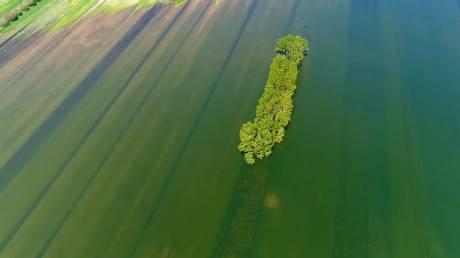 Ο 6ος άθλος του Ηρακλή: Η λίμνη όπου πάλεψε με τις Στυμφαλίδες Όρνιθες από ψηλά