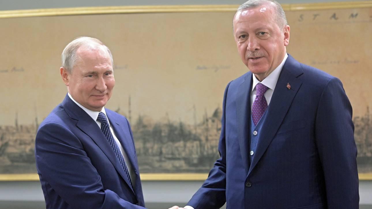 Τηλεφωνική επικοινωνία Πούτιν - Ερντογάν για την Ιντλίμπ