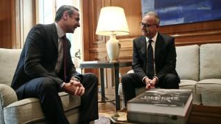 Συνάντηση Μητσοτάκη - Νεοφύτου: «Ψηλά» το Κυπριακό και οι τουρκικές προκλήσεις