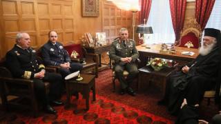 Συνάντηση αρχιεπισκόπου Ιερώνυμου με την ηγεσία των Ενόπλων Δυνάμεων