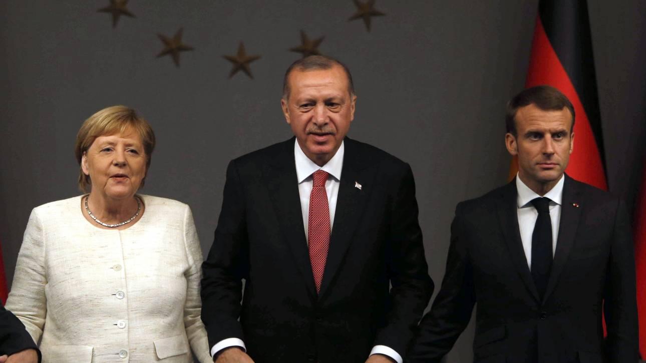 «Συγκεκριμένες ενέργειες» για την Ιντλίμπ ζητά ο Ερντογάν από Μέρκελ - Μακρόν