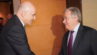 Συνάντηση Δένδια - Γκουτέρες: «Ψηλά» στην ατζέντα Κυπριακό και Λιβύη
