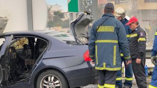 Φωτιά σε όχημα με υγραέριο στην Εθνική – Κυκλοφοριακό χάος