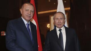Τηλεφωνική επικοινωνία Ερντογάν - Πούτιν για τη Συρία