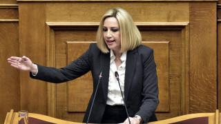 Γεννηματά: Ίδιες πολιτικές είναι οι κρίκοι της αλυσίδας που ενώνουν ΣΥΡΙΖΑ και ΝΔ