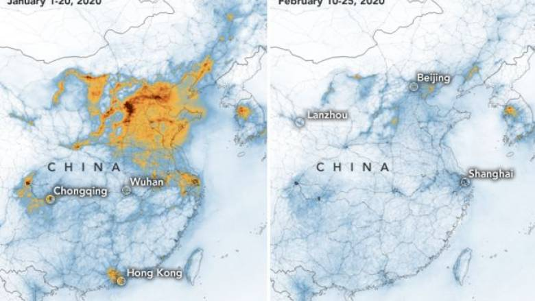 NASA: Πιο καθαρή η ατμόσφαιρα στην Κίνα χάρη... στον κορωνοϊό