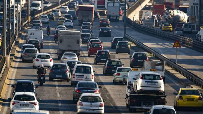 Κυκλοφοριακό χάος στην Αθηνών - Λαμίας