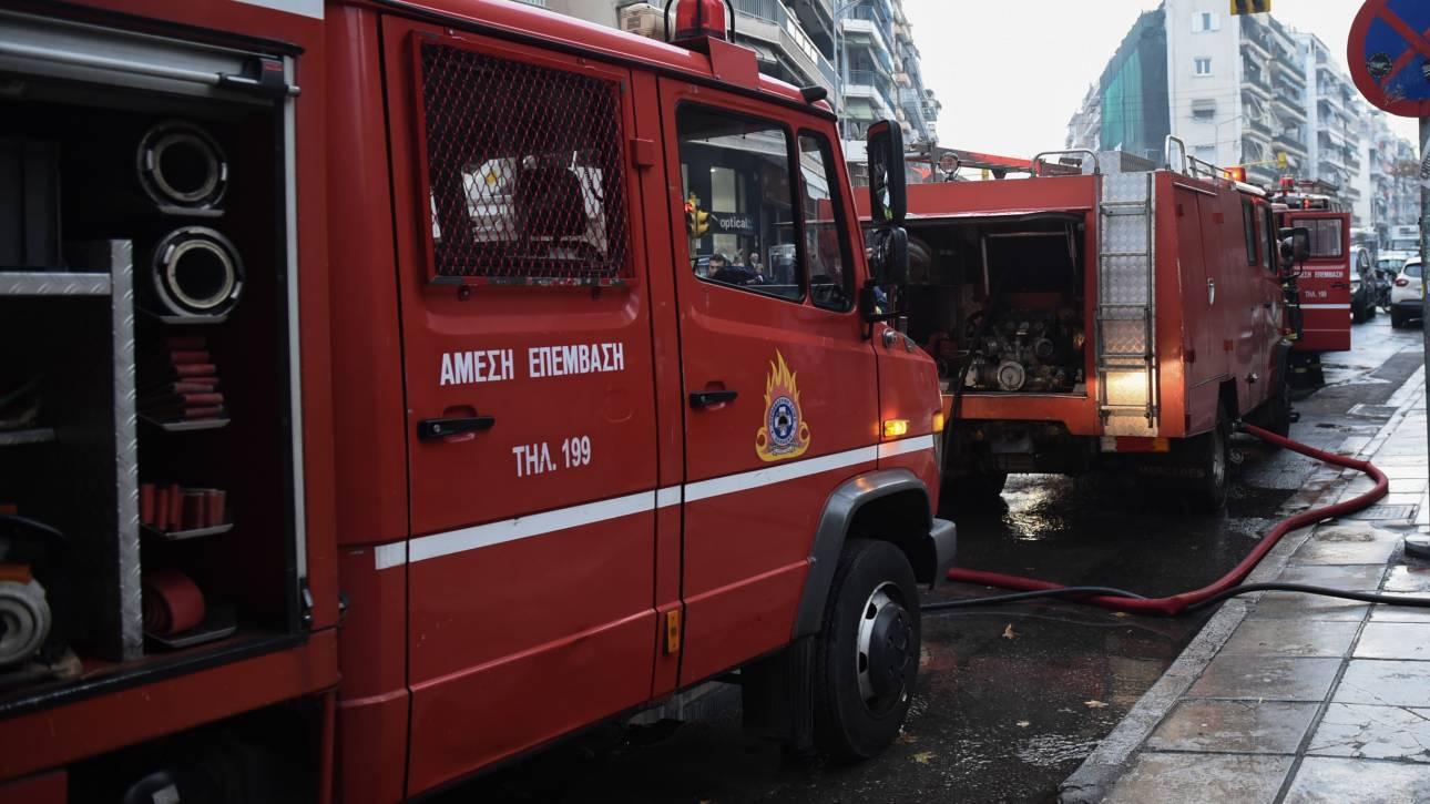 Ηράκλειο: Φωτιά σε συγκρότημα γραφείων