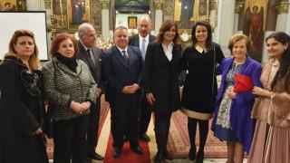 Η N. Mάκραμ στον Ι.Ν Αγ. Κων/νου: «Είμαι υπερήφανη που οι Ελληνοαιγύπτιοι παραμένουν στην Αίγυπτο»