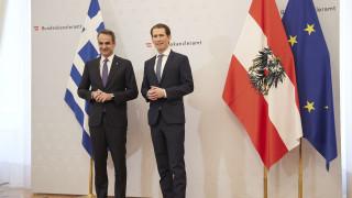 Στη Βιέννη ο Μητσοτάκης: Προσωπικό και εξοπλισμό στέλνει στα ελληνοτουρκικά σύνορα η Αυστρία
