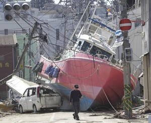 2011 Η κατεστραμένη πόλη Ishinomaki, στη Βορειοανατολική Ιαπωνία, μετά τον καταστροφικό σεισμό και το τσουνάμι που χτύπησε τη χώρα.