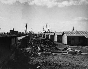 1946 Καινούργια κτήρια δημιουργούνται στα ερείπια της Χιροσίμα, που καταστράφηκε ολοσχερώς από την πρώτη ατομική βόμβα.