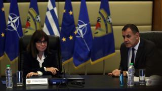 Στο υπουργείο Εθνικής Άμυνας η Κατερίνα Σακελλαροπούλου